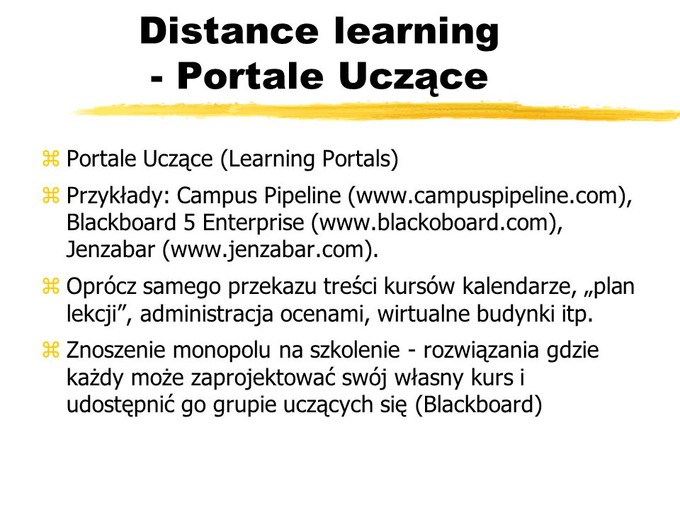 Distance learning - Portale Uczące