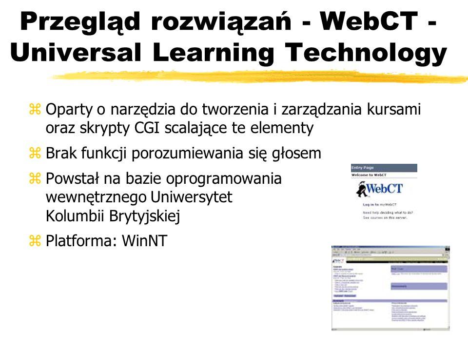 Przegląd rozwiązań - WebCT - Universal Learning Technology