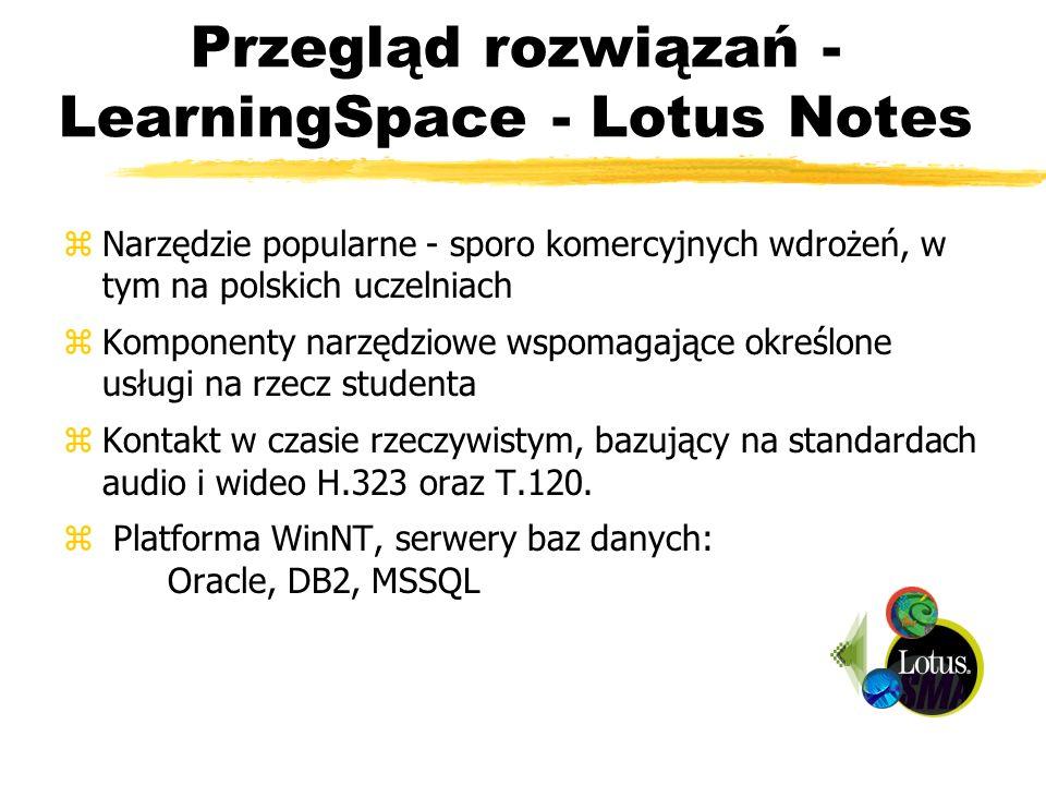 Przegląd rozwiązań - LearningSpace - Lotus Notes