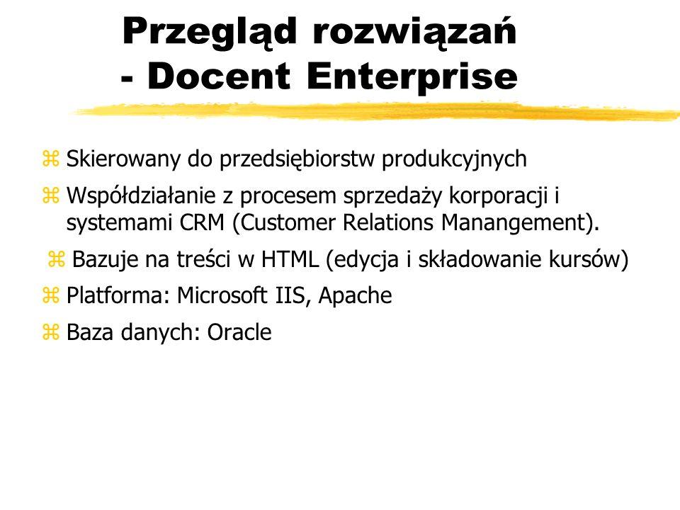 Przegląd rozwiązań - Docent Enterprise