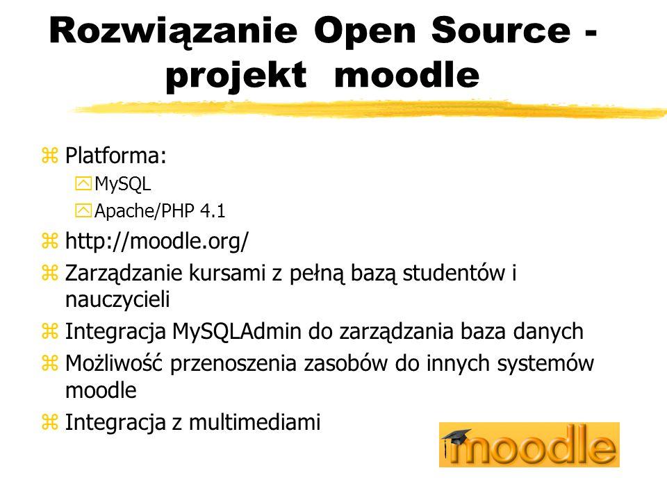Rozwiązanie Open Source - projekt moodle