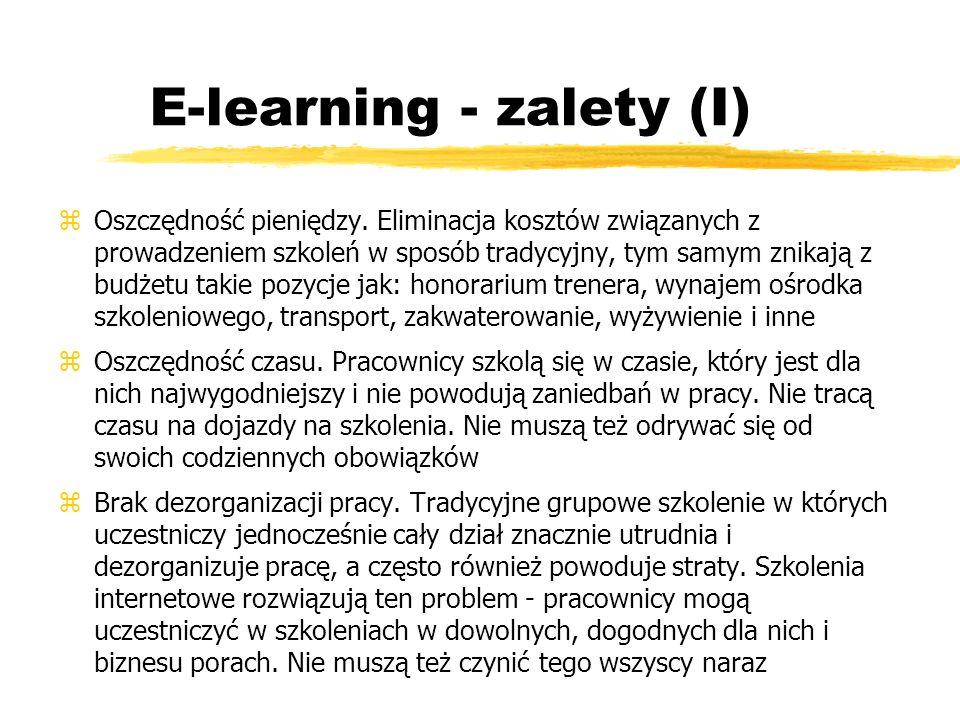 E-learning - zalety (I)