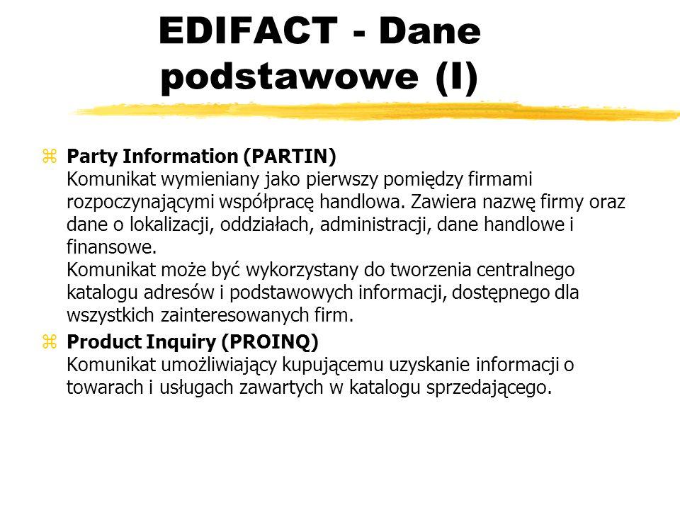EDIFACT - Dane podstawowe (I)