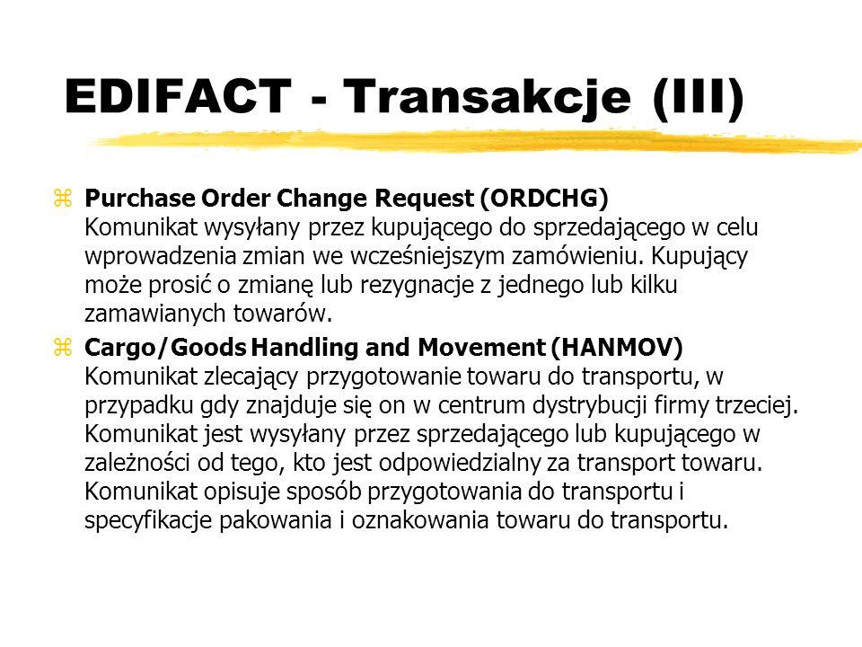 EDIFACT - Transakcje (III)