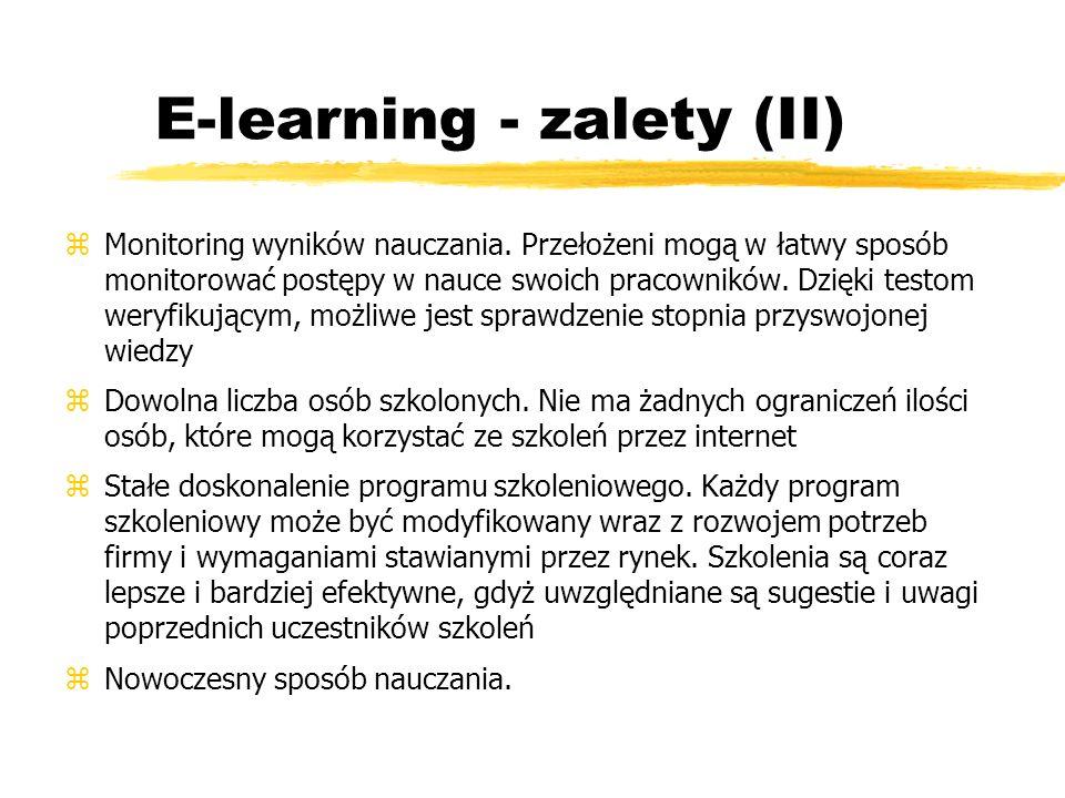 E-learning - zalety (II)