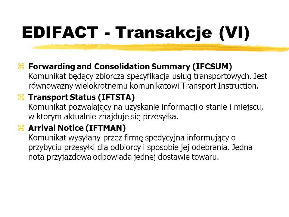 EDIFACT - Transakcje (VI)