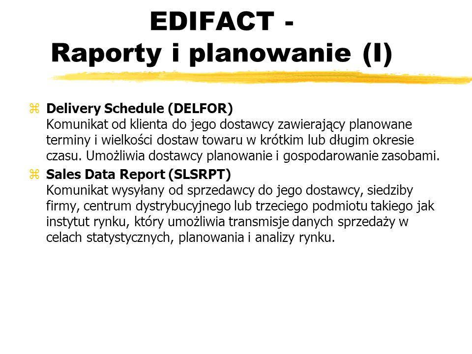 EDIFACT - Raporty i planowanie (I)