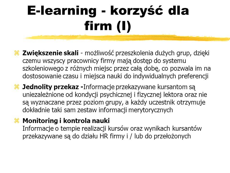 E-learning - korzyść dla firm (I)