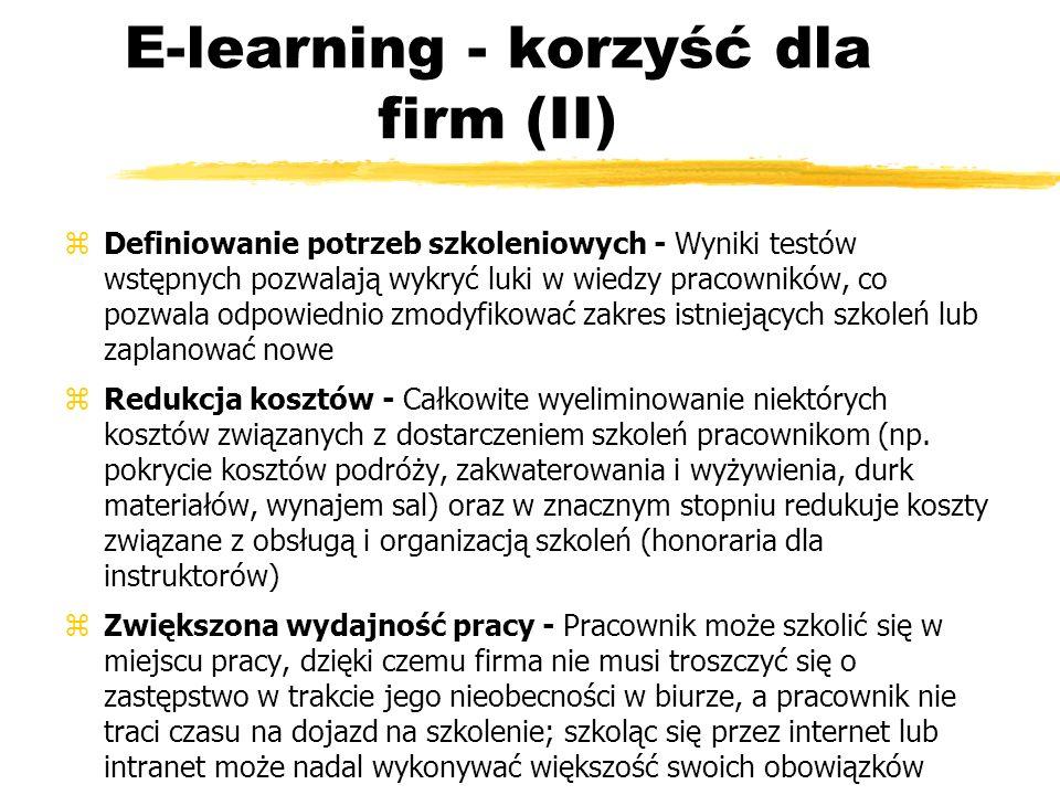 E-learning - korzyść dla firm (II)