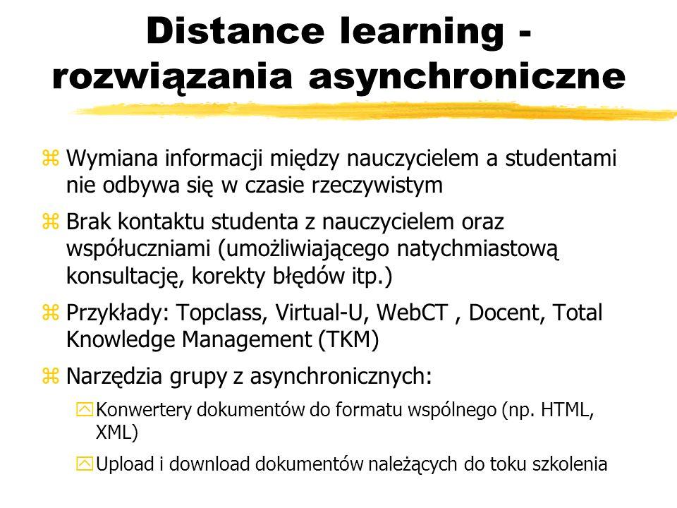 Distance learning - rozwiązania asynchroniczne