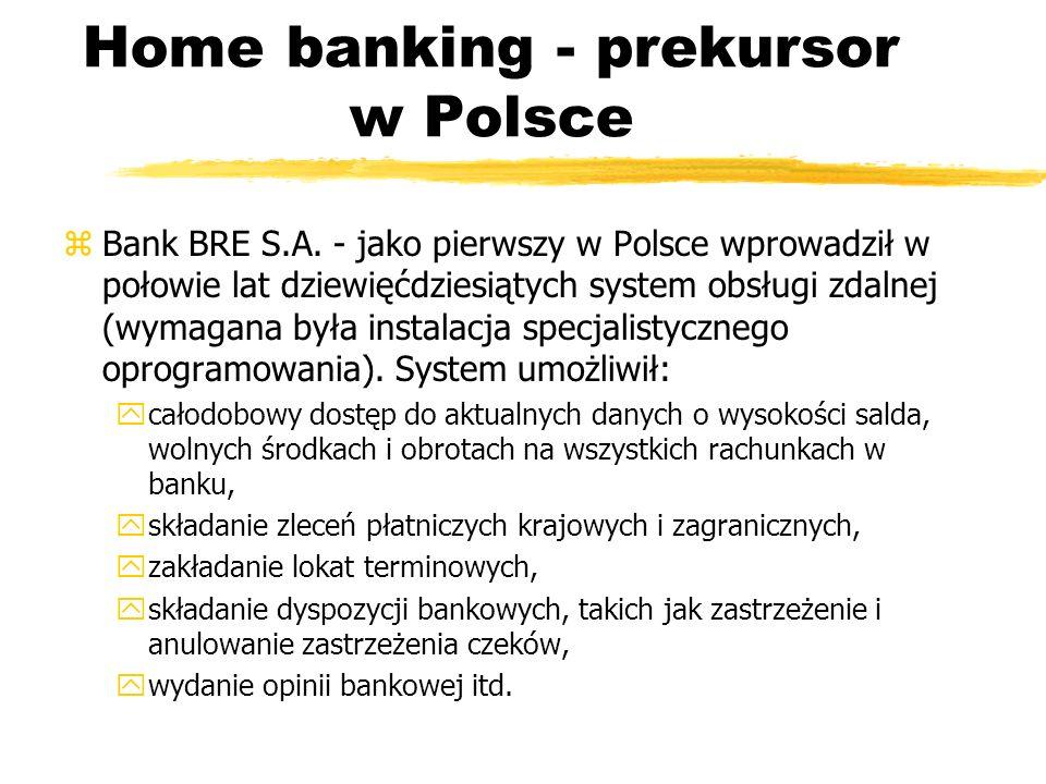Home banking - prekursor w Polsce