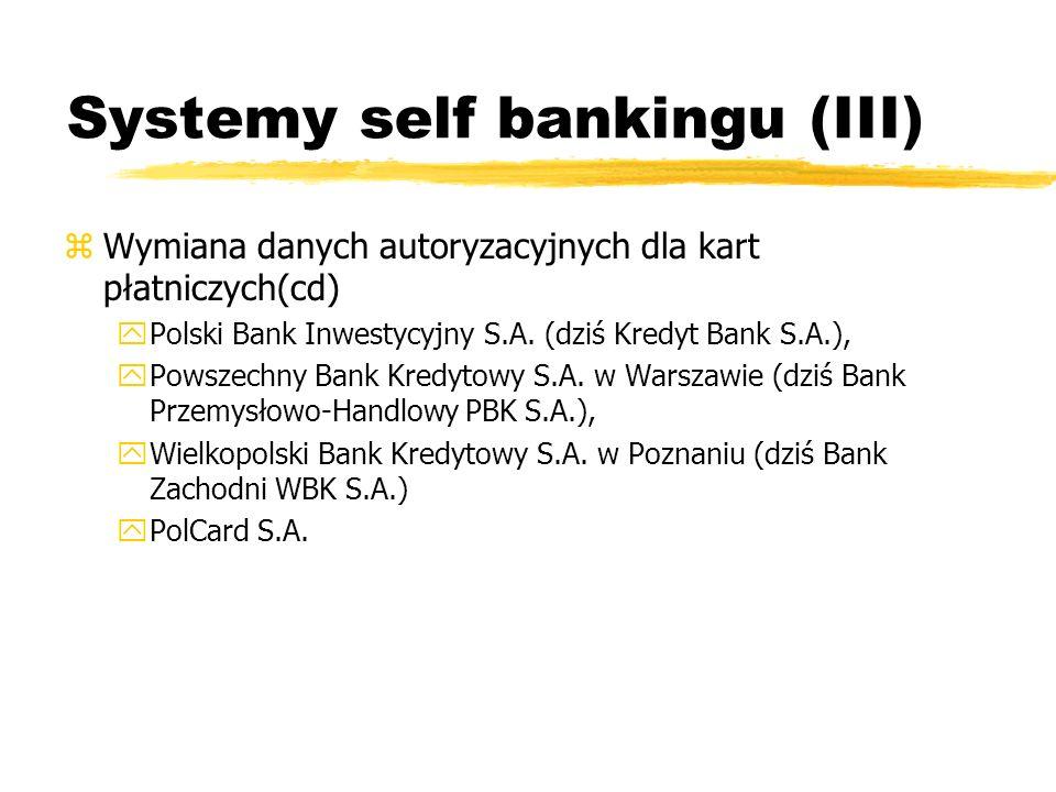 Systemy self bankingu (III)