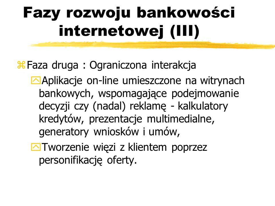 Fazy rozwoju bankowości internetowej (III)