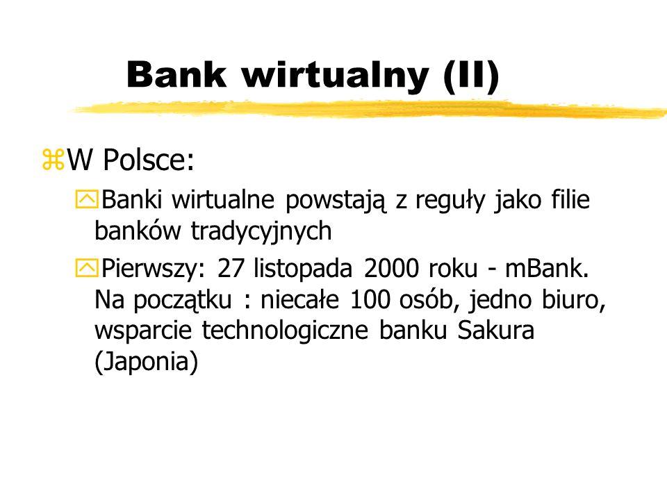 Bank wirtualny (II) W Polsce: