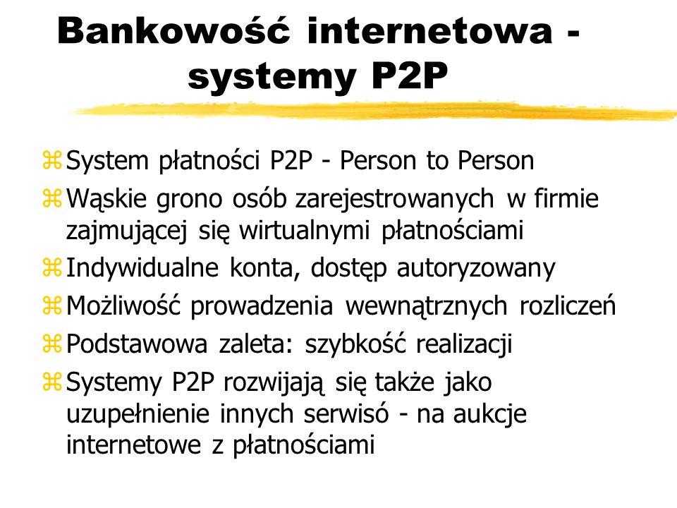 Bankowość internetowa - systemy P2P