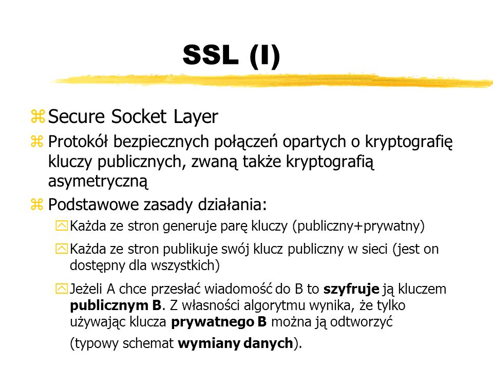 SSL (I) Secure Socket Layer