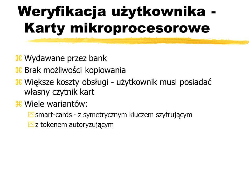 Weryfikacja użytkownika - Karty mikroprocesorowe