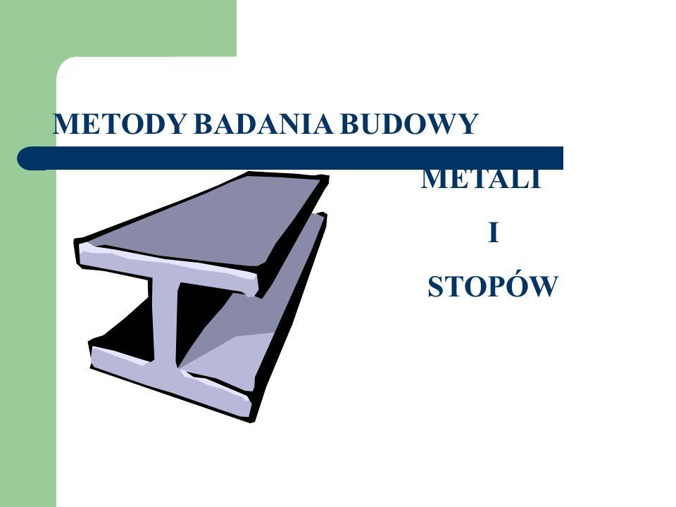 METODY BADANIA BUDOWY METALI I STOPÓW