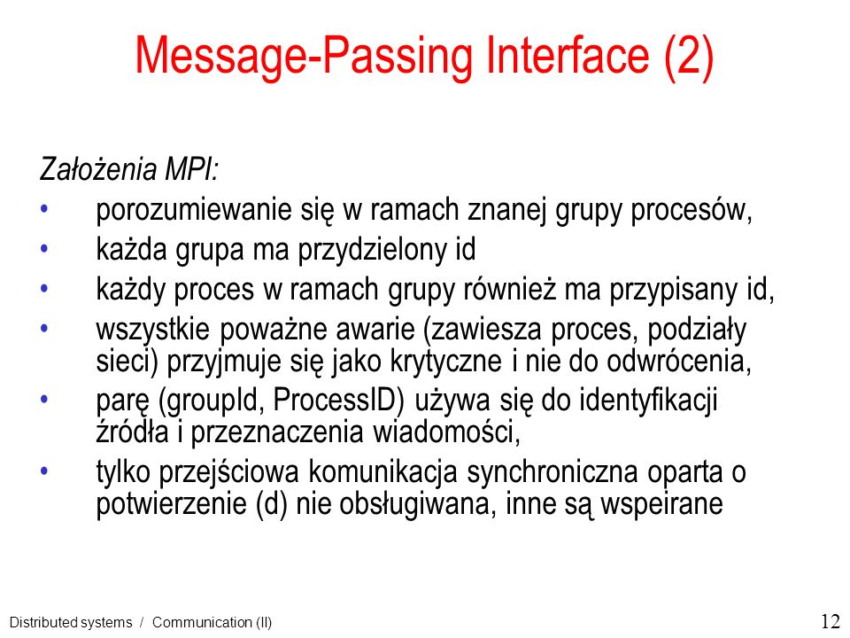 Message-Passing Interface (2)
