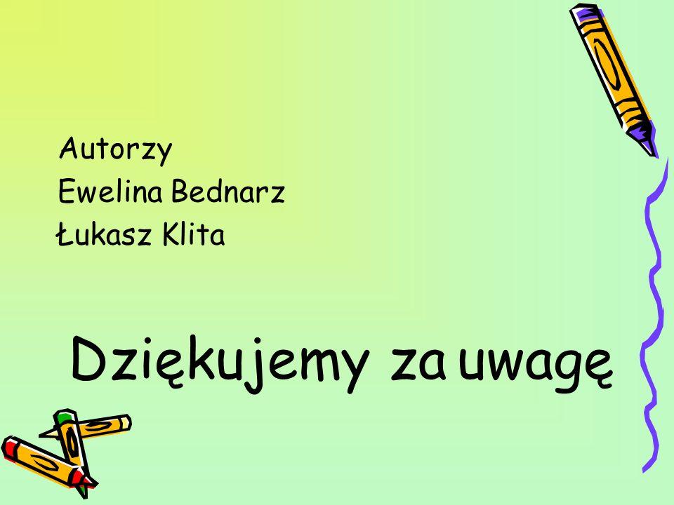Autorzy Ewelina Bednarz Łukasz Klita Dziękujemy za uwagę