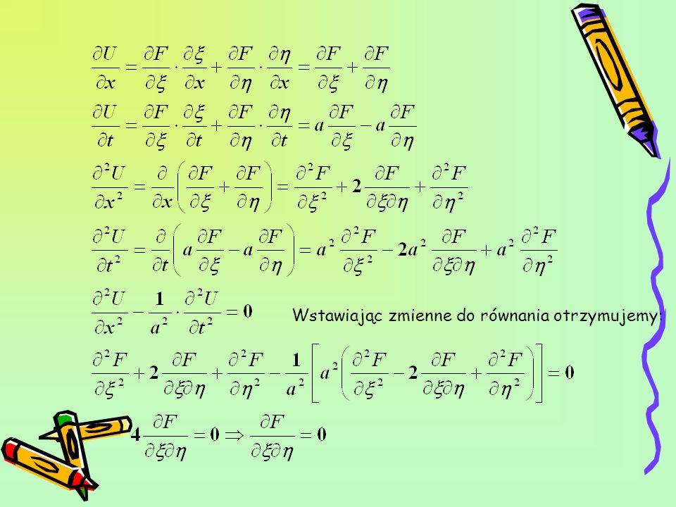 Wstawiając zmienne do równania otrzymujemy: