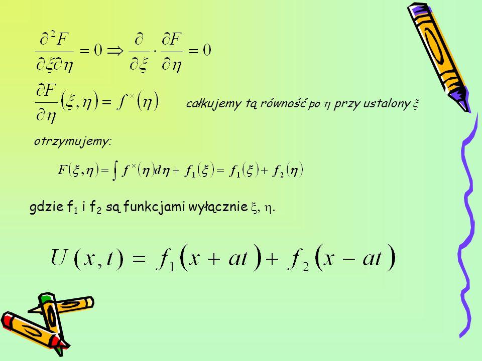 gdzie f1 i f2 są funkcjami wyłącznie x, h.