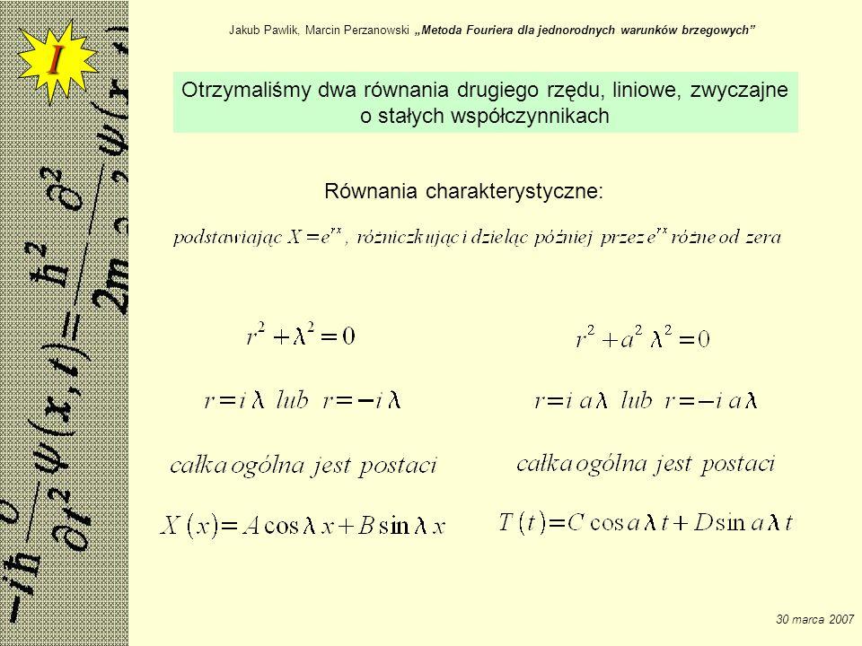 """Jakub Pawlik, Marcin Perzanowski """"Metoda Fouriera dla jednorodnych warunków brzegowych"""