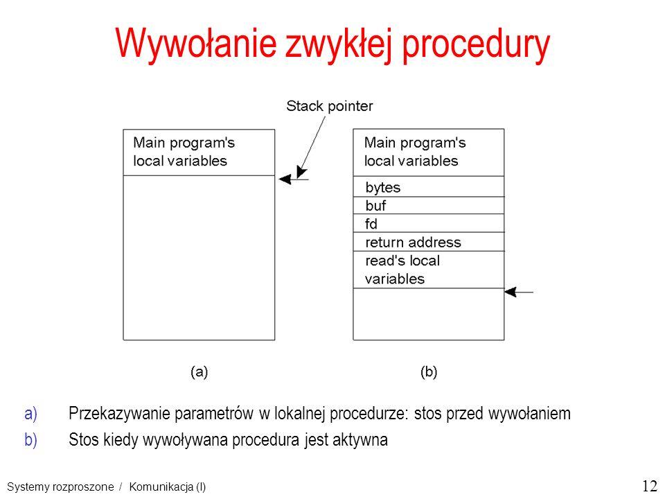 Wywołanie zwykłej procedury