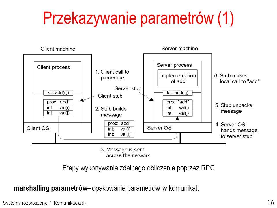 Przekazywanie parametrów (1)