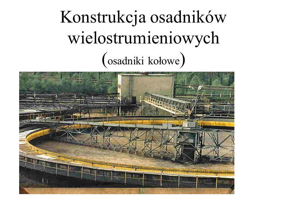 Konstrukcja osadników wielostrumieniowych (osadniki kołowe)