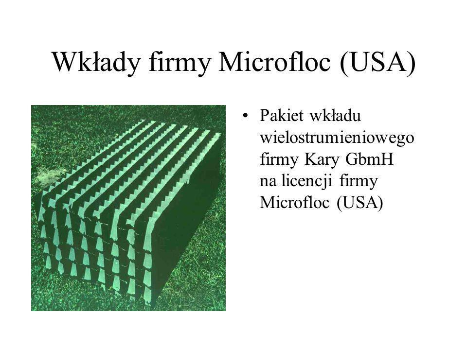 Wkłady firmy Microfloc (USA)
