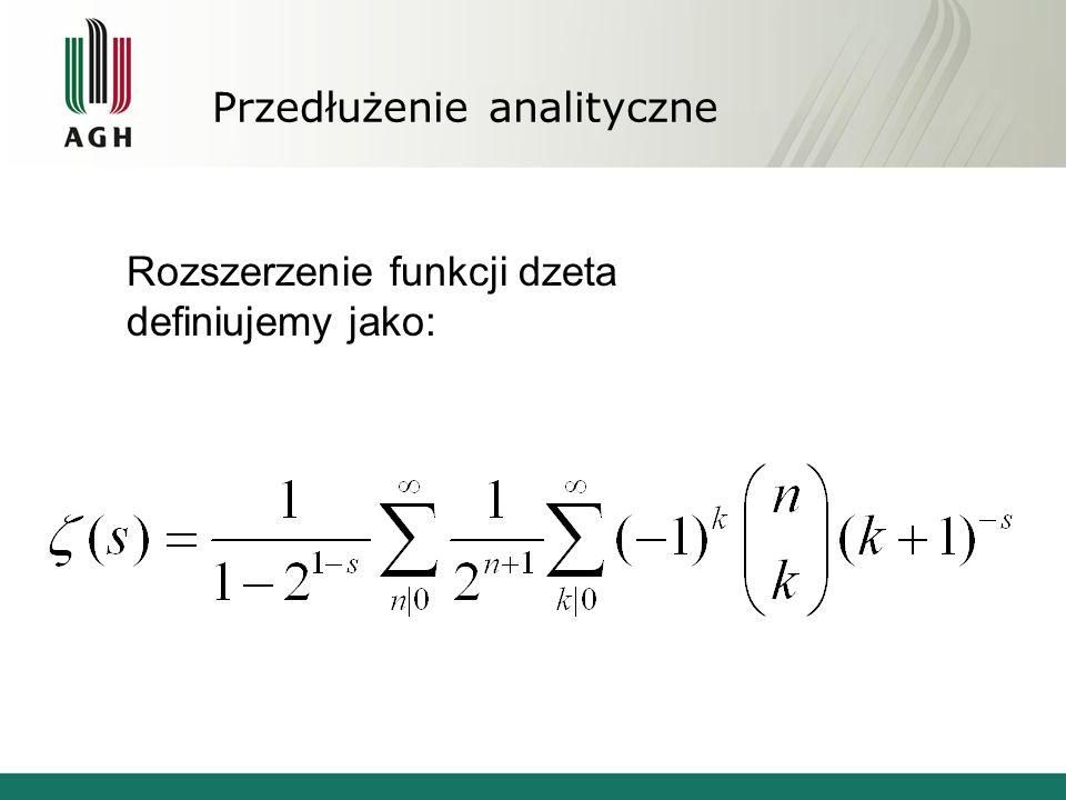 Przedłużenie analityczne