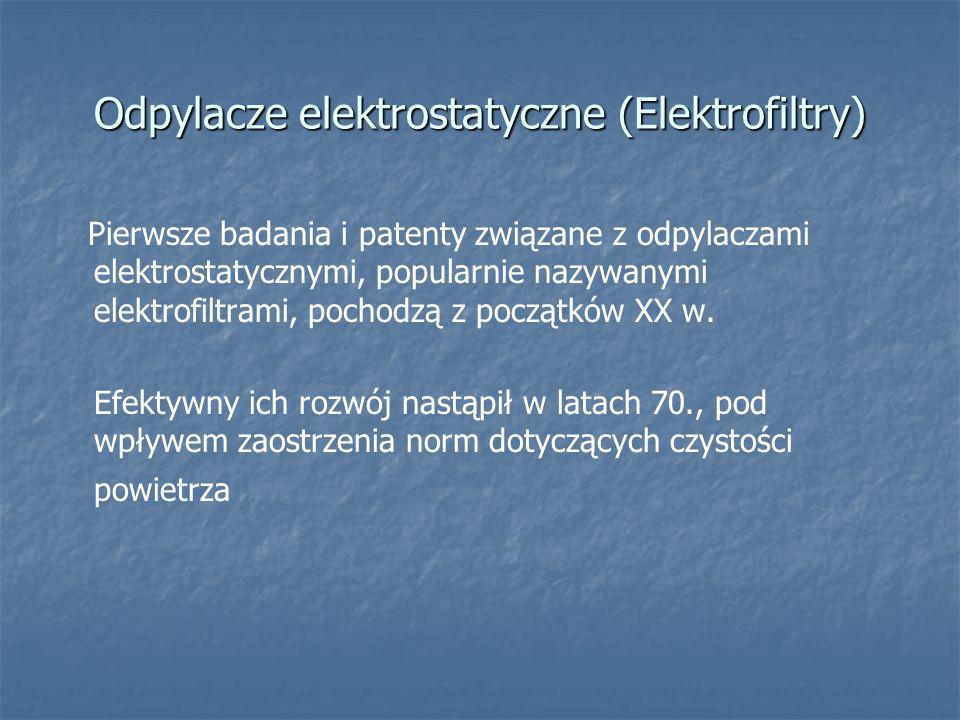 Odpylacze elektrostatyczne (Elektrofiltry)