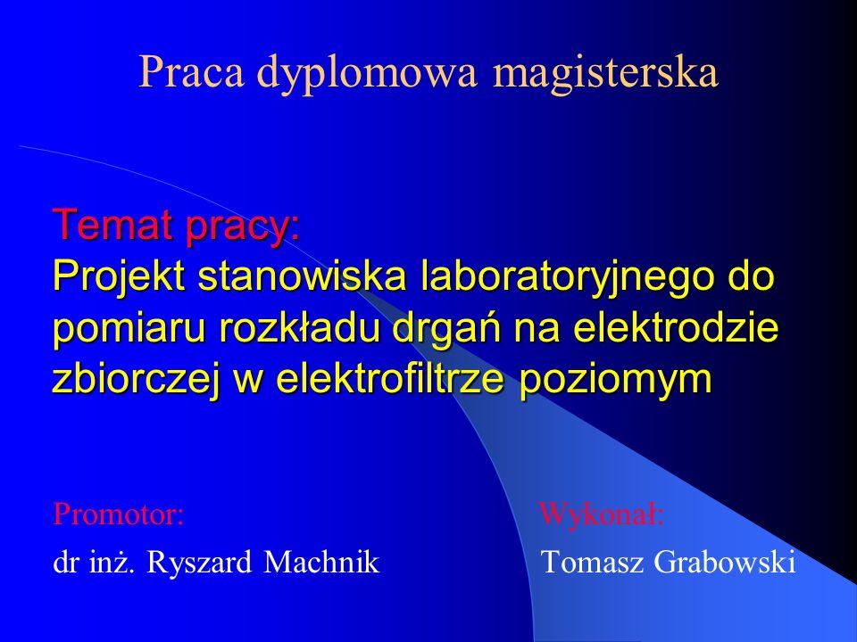 Promotor: Wykonał: dr inż. Ryszard Machnik Tomasz Grabowski