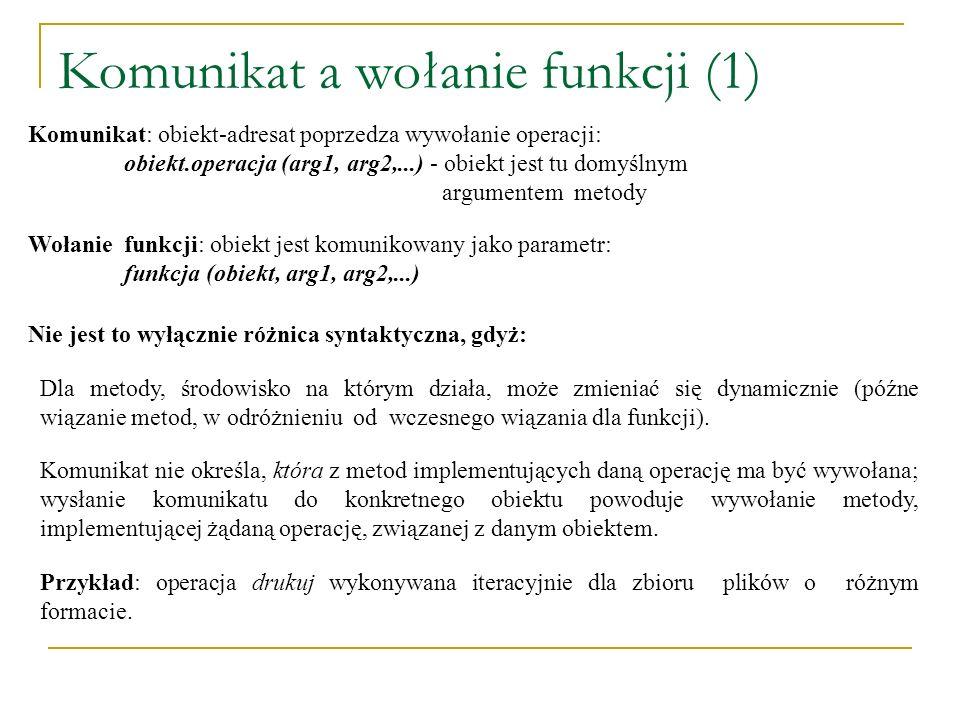 Komunikat a wołanie funkcji (1)