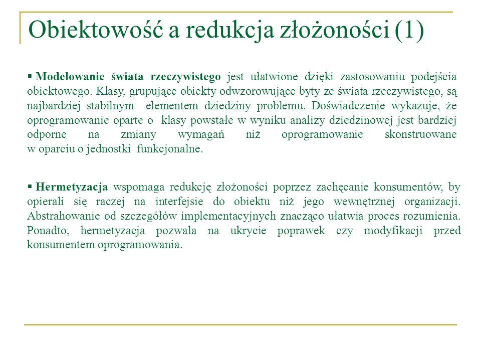 Obiektowość a redukcja złożoności (1)