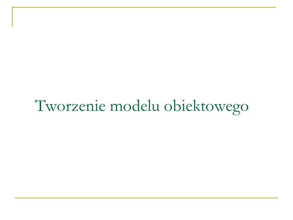 Tworzenie modelu obiektowego