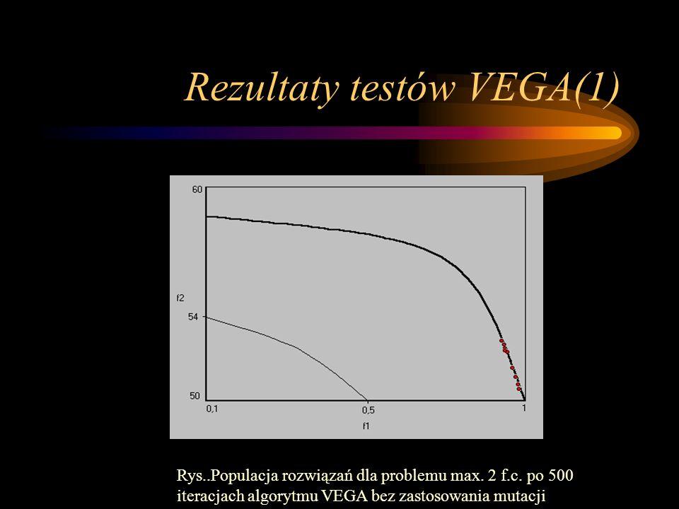 Rezultaty testów VEGA(1)