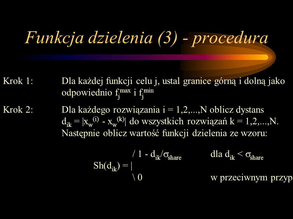 Funkcja dzielenia (3) - procedura