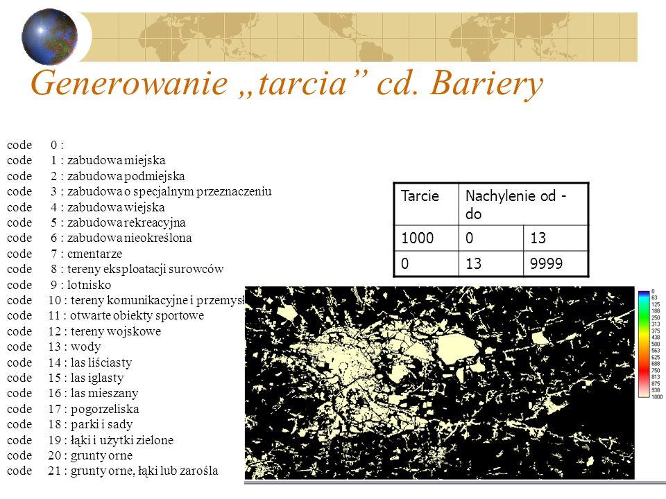 """Generowanie """"tarcia cd. Bariery"""