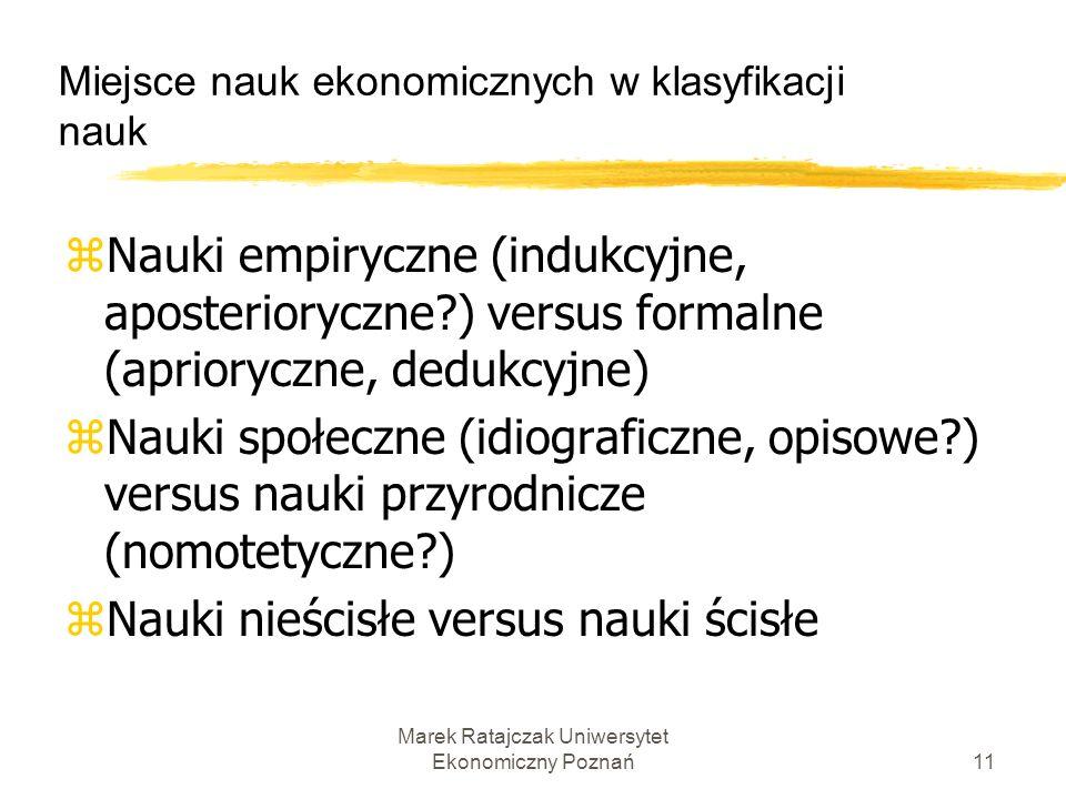 Miejsce nauk ekonomicznych w klasyfikacji nauk