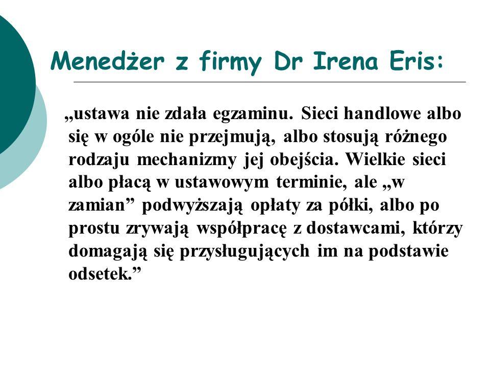 Menedżer z firmy Dr Irena Eris: