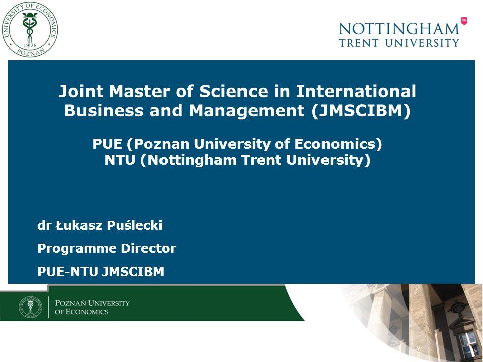 dr Łukasz Puślecki Programme Director PUE-NTU JMSCIBM