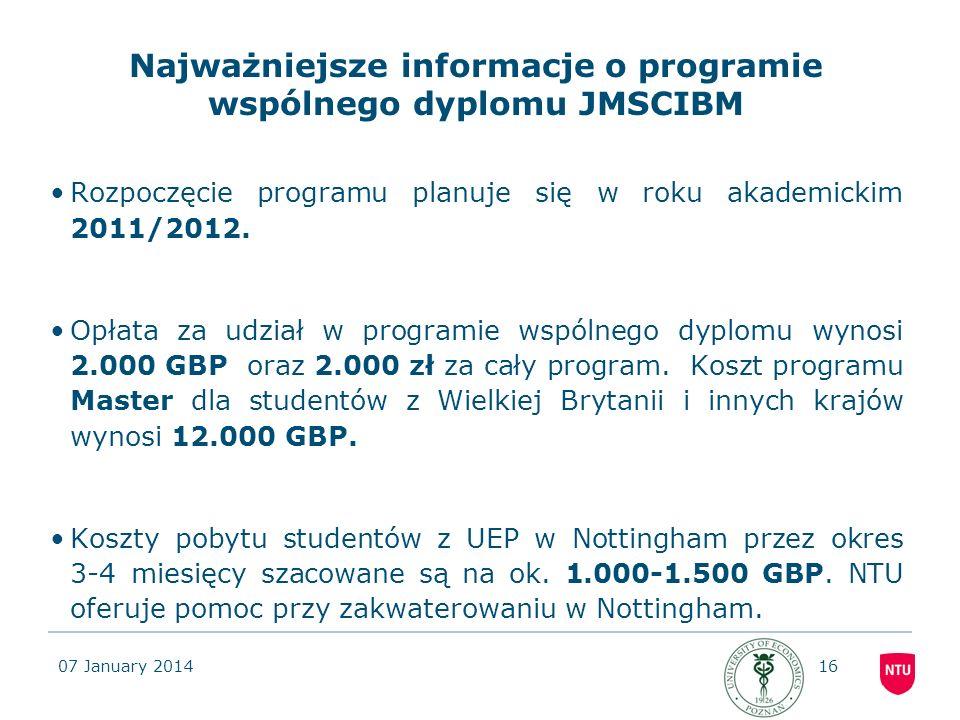 Najważniejsze informacje o programie wspólnego dyplomu JMSCIBM