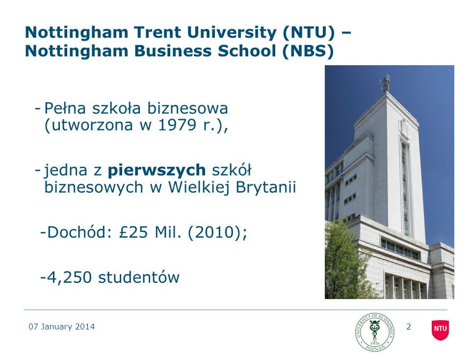Nottingham Trent University (NTU) – Nottingham Business School (NBS)