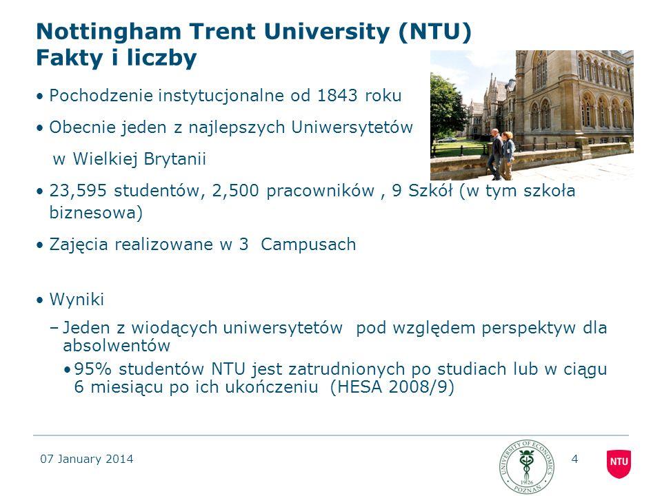 Nottingham Trent University (NTU) Fakty i liczby