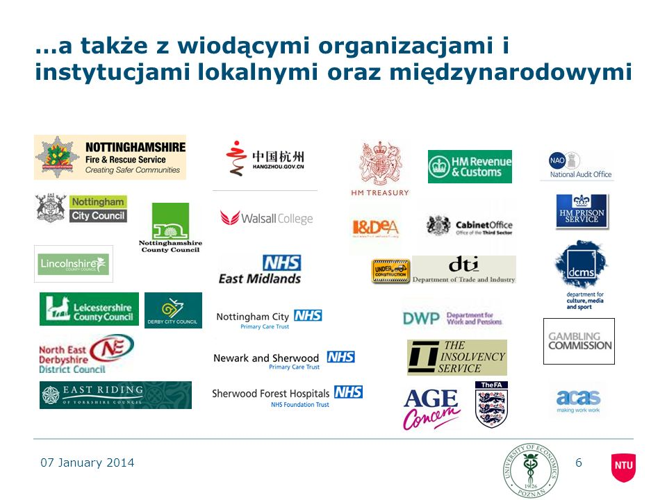 …a także z wiodącymi organizacjami i instytucjami lokalnymi oraz międzynarodowymi