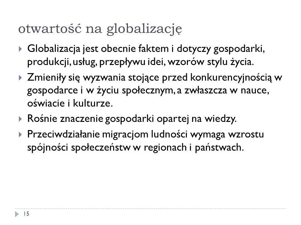 otwartość na globalizację