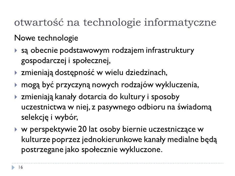 otwartość na technologie informatyczne