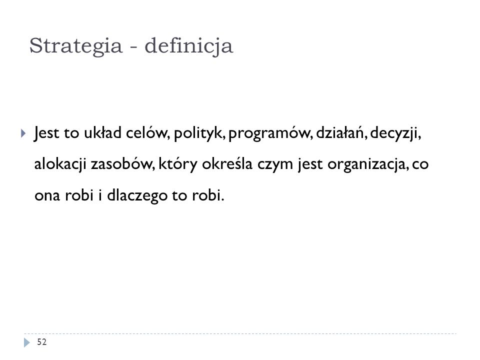Strategia - definicja